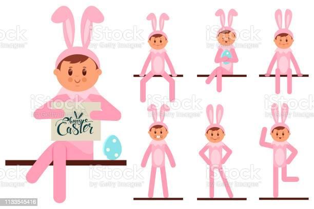 Cute boy in easter bunny costume vector cartoon flat kids character vector id1133545416?b=1&k=6&m=1133545416&s=612x612&h=kvecurjio qbjspmdiolmkha yf bf7tpjzdg engtg=