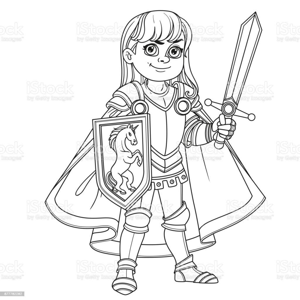 Ilustración de Chico Lindo En Caballero O Paladín De Armadura ...