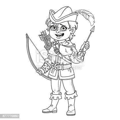 Ilustración de Chico Guapo En Traje De Robin Hood Para Colorear ...