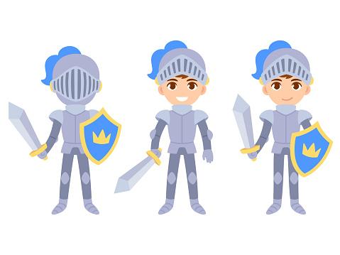 Cute boy knight set