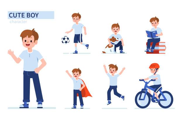 ilustrações de stock, clip art, desenhos animados e ícones de cute boy - baby super hero