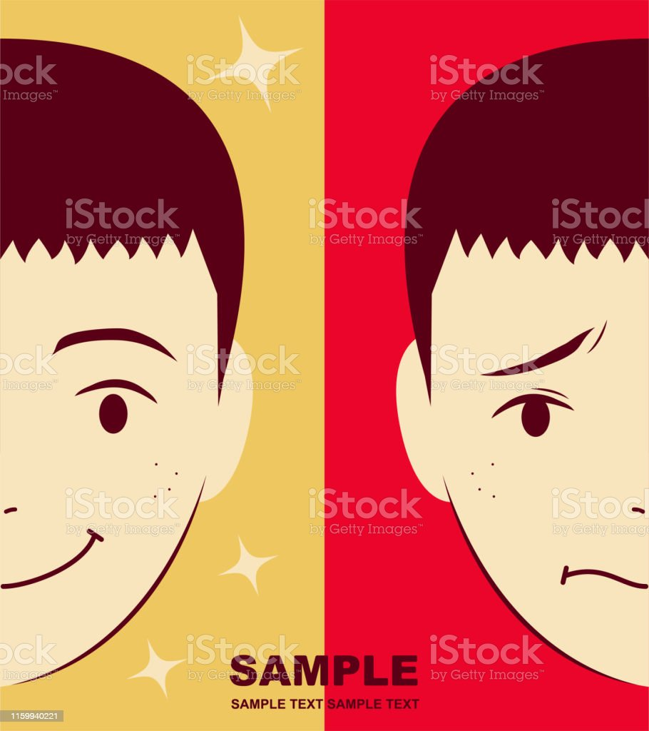 Unique Characters Vector art illustration. Cute boy with crew cut...