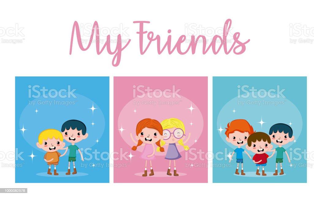 Cute boys amd girls cards