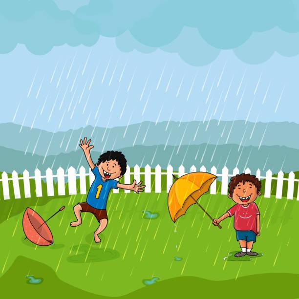 Dancing In The Rain Illustrations, Royalty-Free Vector ...