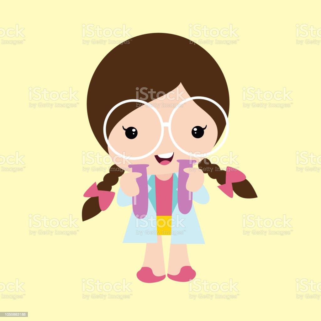 1ba8fdd77973b7 Leuke Gevlochten Weinig Meisjes Dragen Grote Brillen Cartoon ...
