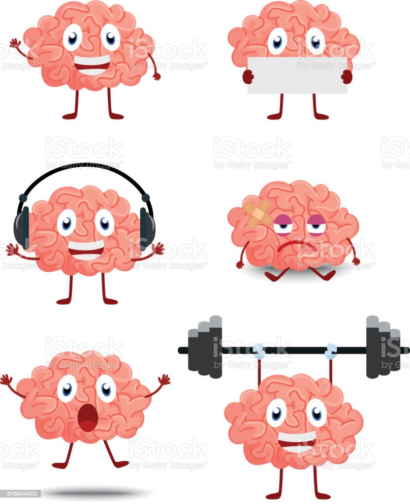cute brain cartoon stock vector art amp more images of art