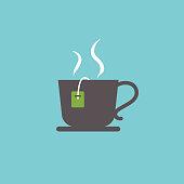 Flat Design Style Breakfast Food Icon - Teacup