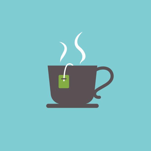 ilustrações de stock, clip art, desenhos animados e ícones de cute breakfast food icon - teacup - chá bebida quente