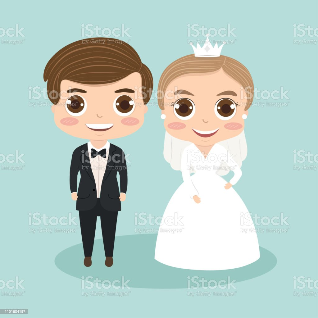Wedding Cartoon Couple Cute 5