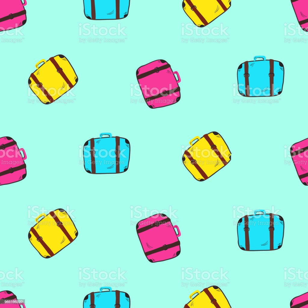 Cute bright colorful seamless suitcases pattern royalty-free cute bright colorful seamless suitcases pattern stock vector art & more images of adventure
