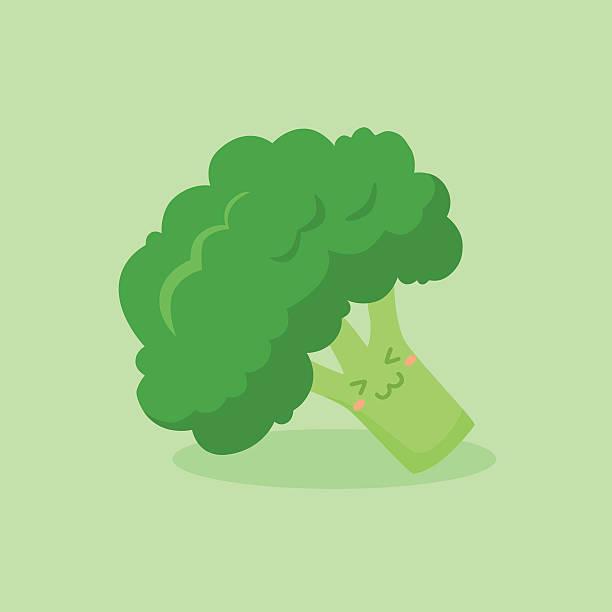 stockillustraties, clipart, cartoons en iconen met cute broccoli vegetable mascot vector - broccoli