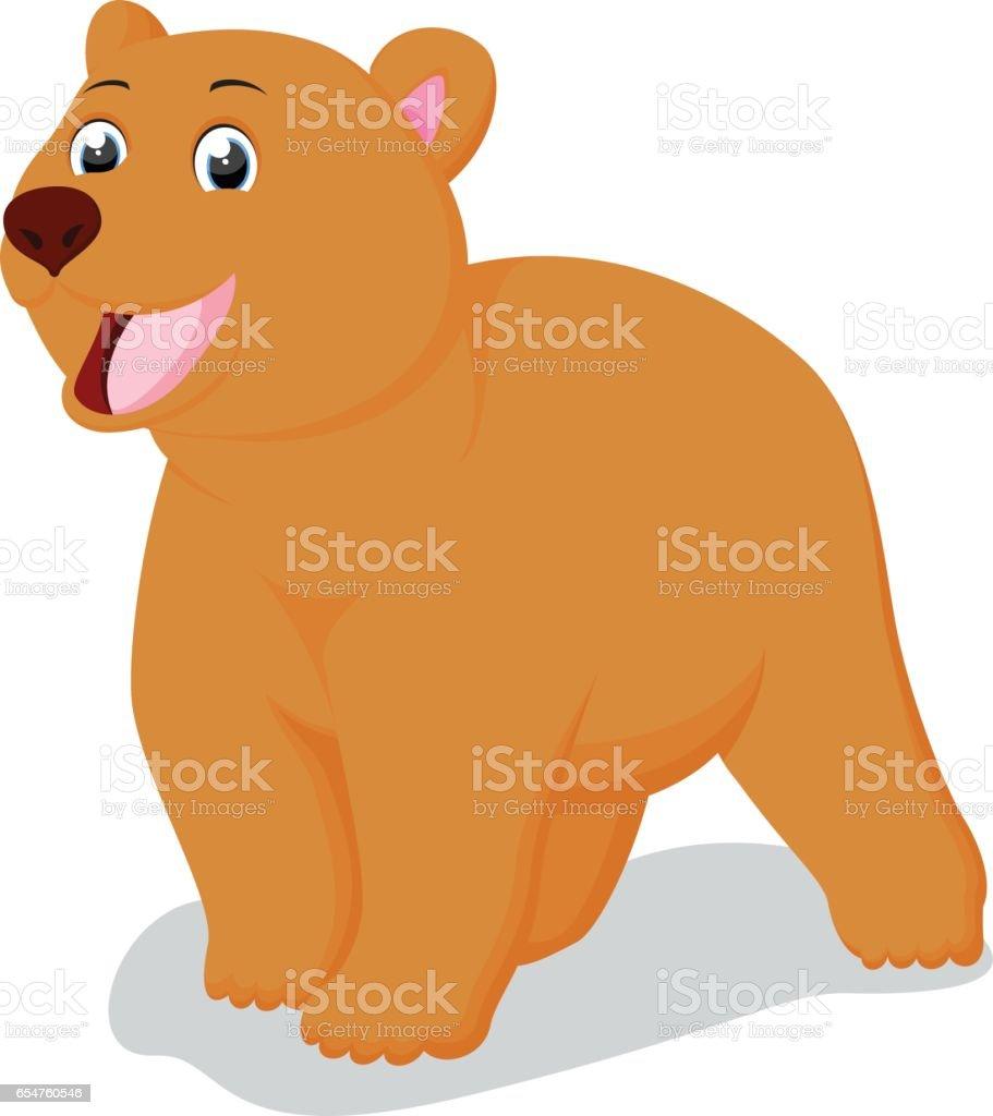 Cute Brown Bear cartoon vector art illustration
