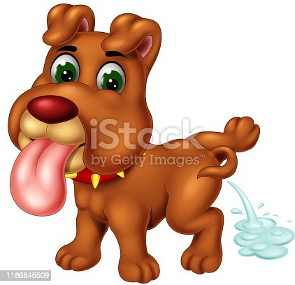 Cute Brown Dog Phising Cartoon for your design
