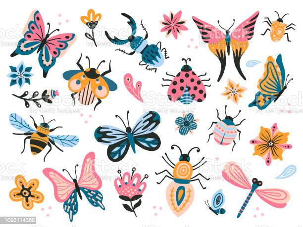 Cute bugs child drawing insects flying butterflies and baby ladybird vector id1093114356?b=1&k=6&m=1093114356&s=612x612&h=zxho9jr06wrwopr hh9e r3s1hcr u7x2g01nnpy0yo=