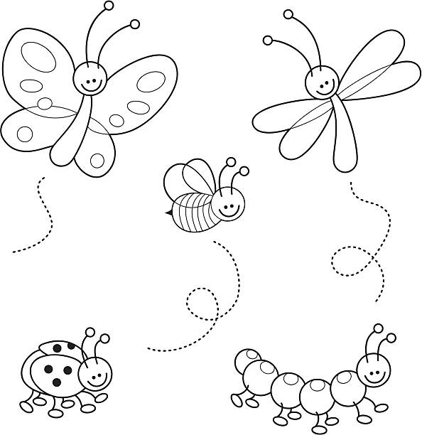 black and white bumble bee illustrations royaltyfree