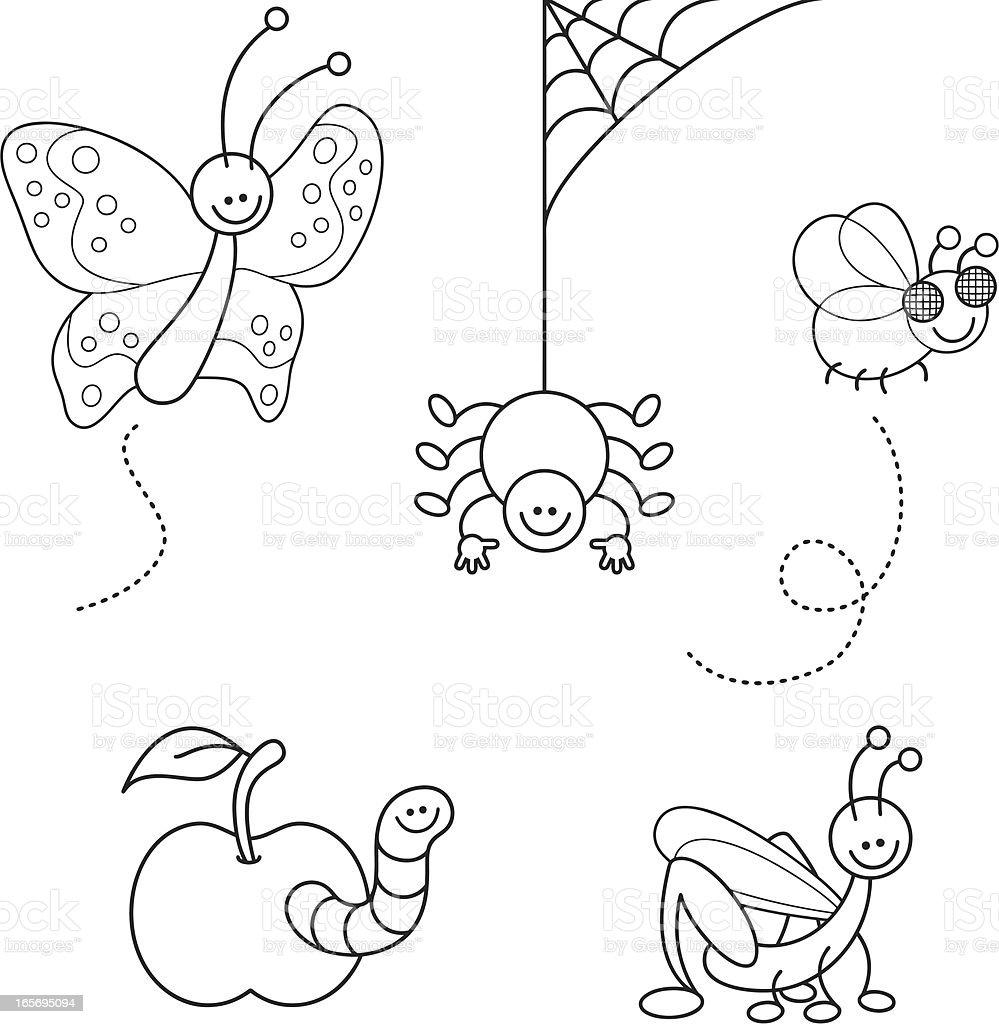 Set Da Colorare Bug Carino Kawaii Immagini Vettoriali Stock E