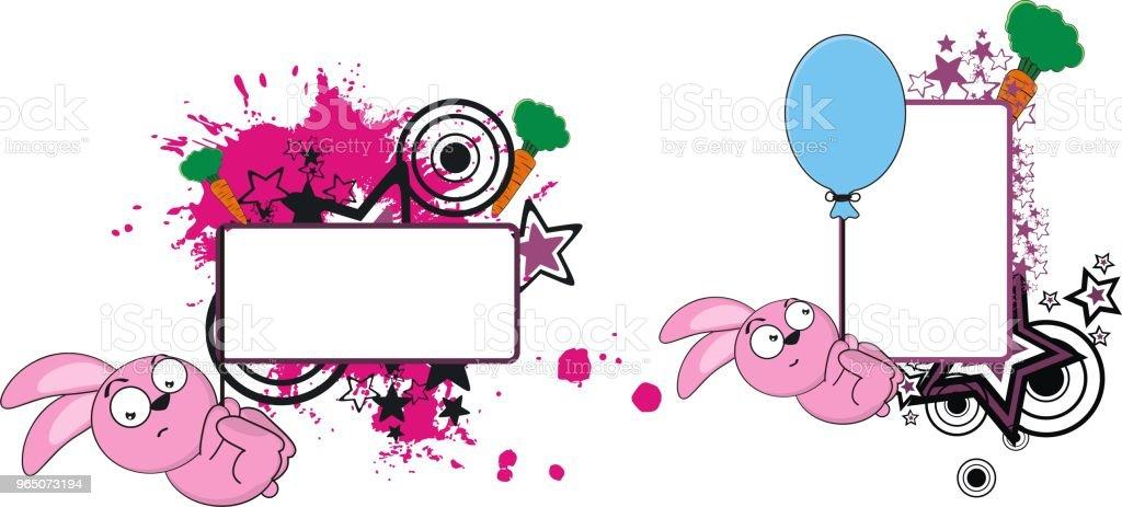 cute bunny cartoon copy space set cute bunny cartoon copy space set - stockowe grafiki wektorowe i więcej obrazów ameryka łacińska royalty-free