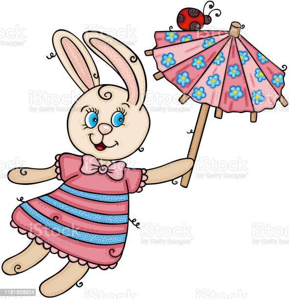 Cute bunny flying holding a funny small umbrella with ladybird vector id1181858924?b=1&k=6&m=1181858924&s=612x612&h=motjavwrgiqrwrc4c6kdytidkrrgjwequoxitcvo6ec=