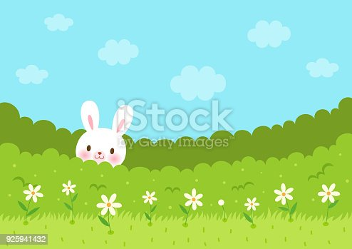 istock Cute bunny in the bush 925941432