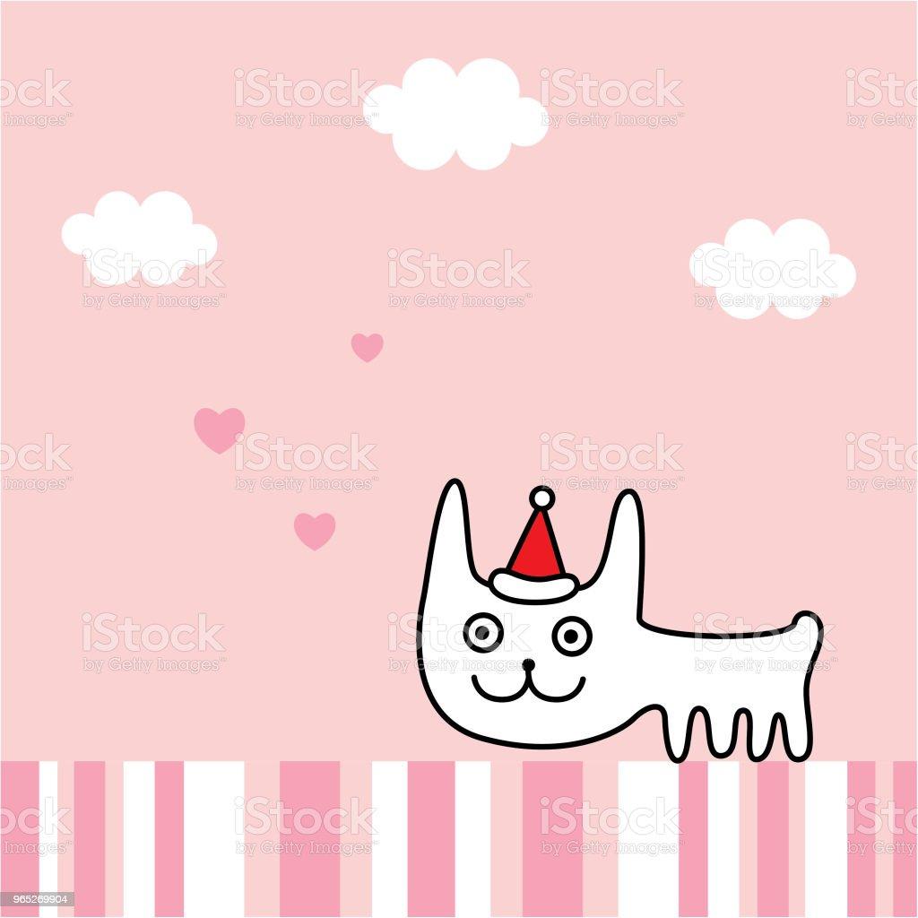 cute bunny rabbit merry christmas greeting card vector cute bunny rabbit merry christmas greeting card vector - stockowe grafiki wektorowe i więcej obrazów bazgroły - rysunek royalty-free