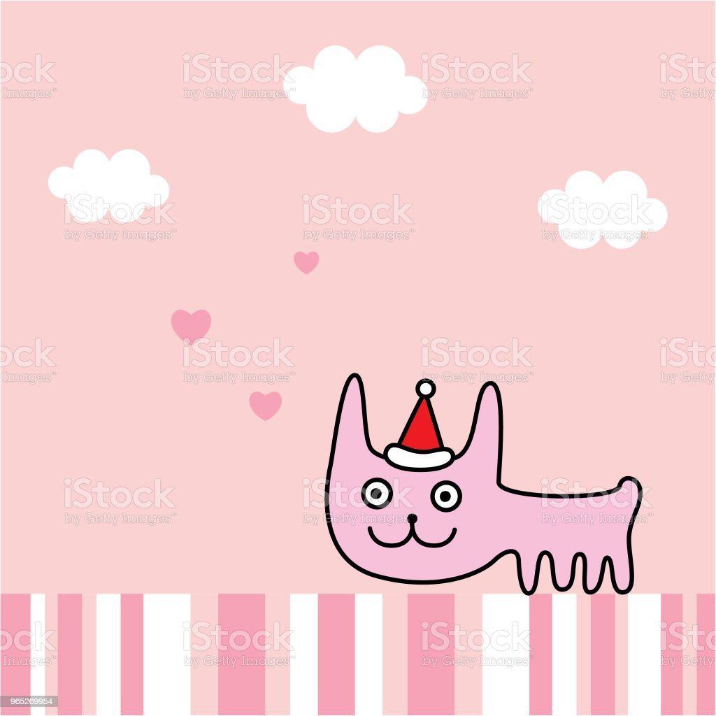 cute bunny rabbit merry christmas greeting card vector royalty-free cute bunny rabbit merry christmas greeting card vector stock vector art & more images of animal