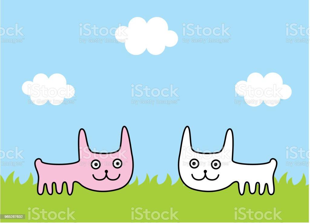cute bunny rabbit spring picture vector cute bunny rabbit spring picture vector - stockowe grafiki wektorowe i więcej obrazów baby shower royalty-free