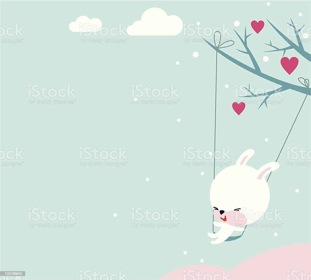 Cute Bunny Valentine royalty-free stock vector art