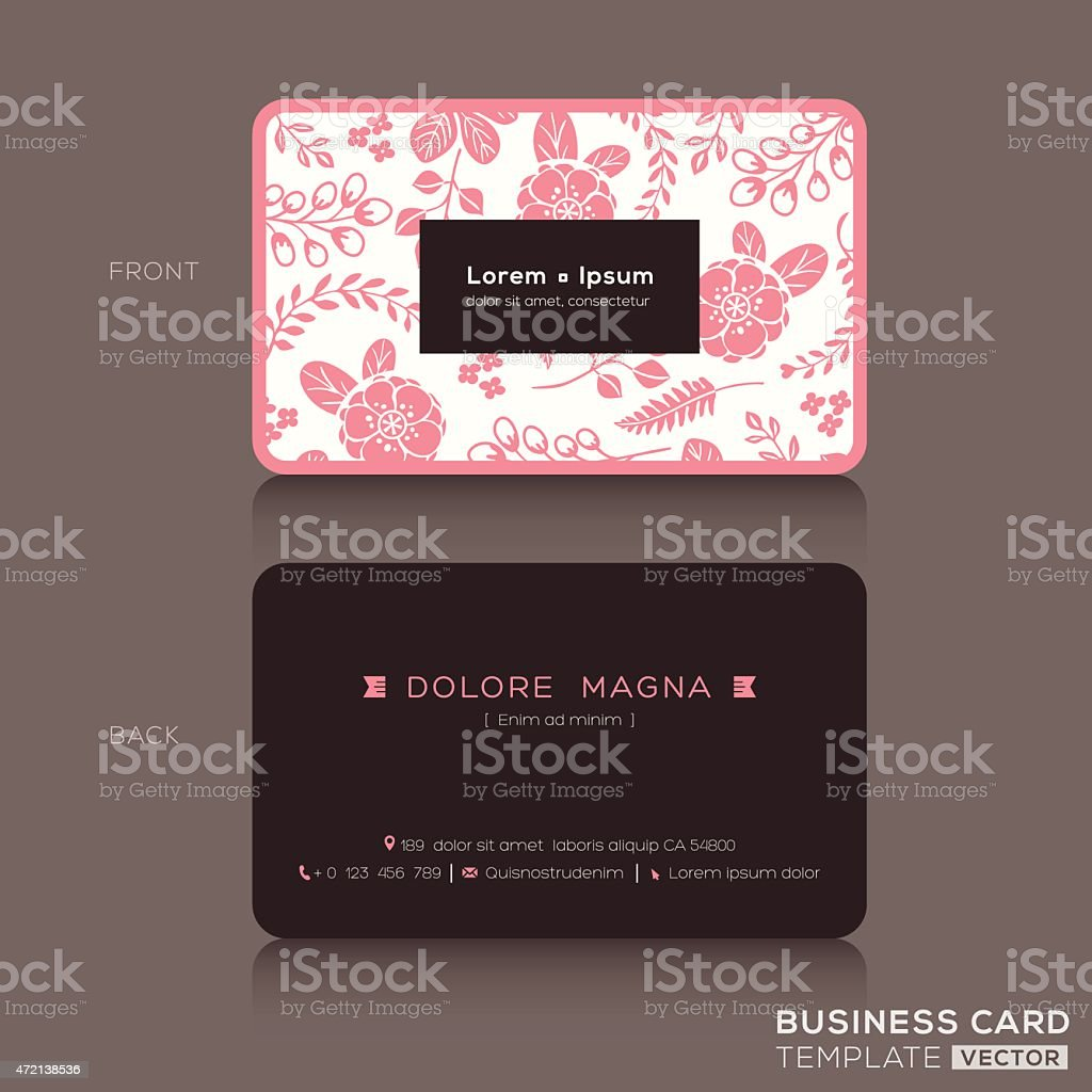Cute business card template with pink floral pattern background cute business card template with pink floral pattern background royalty free cute business card template fbccfo Gallery