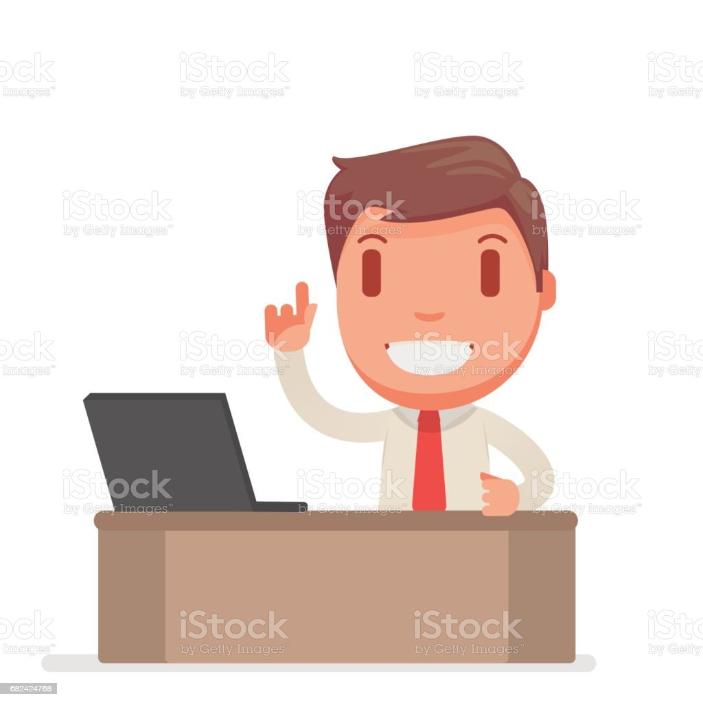 Cute business man royalty-free cute business man stock vector art & more images of art