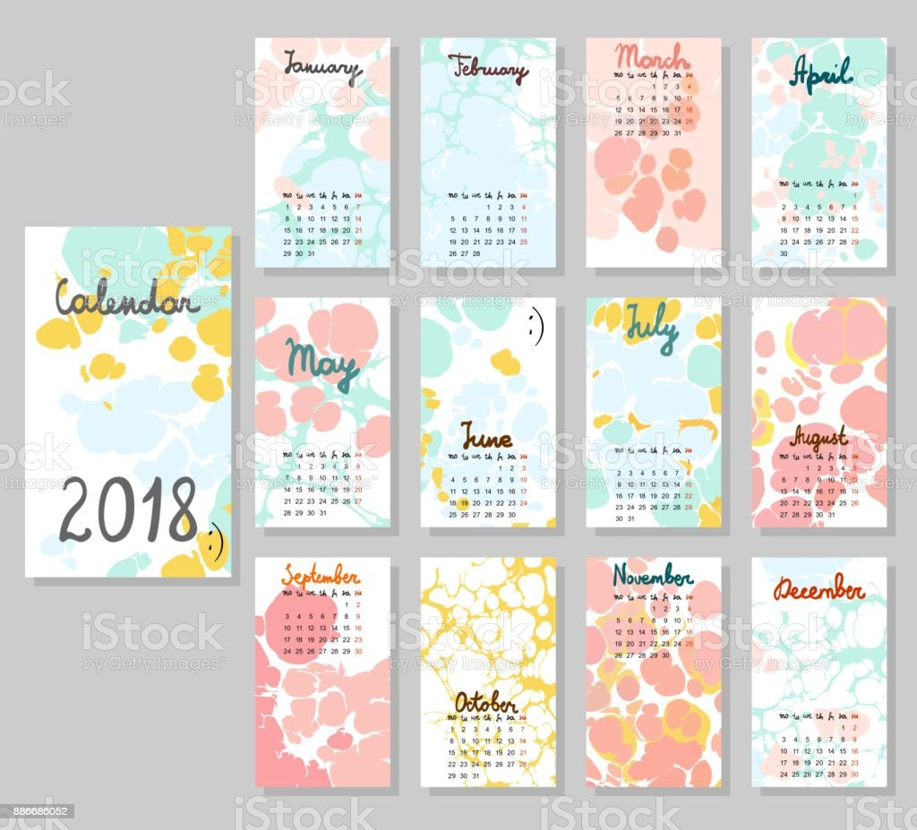 Cute Calendar 2018 - impremedia.net