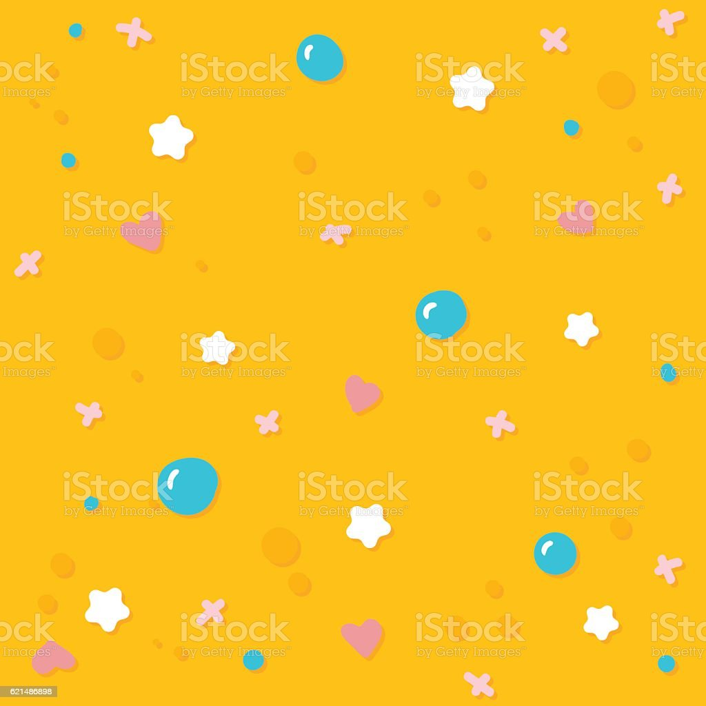 Cute candy sprinkles seamless pattern tile. cute candy sprinkles seamless pattern tile – cliparts vectoriels et plus d'images de aliments et boissons libre de droits