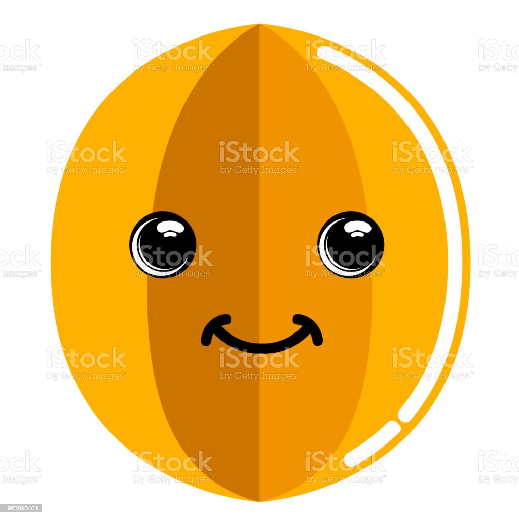 Cute carambolo emoticon - Royalty-free Cartoon stock vector