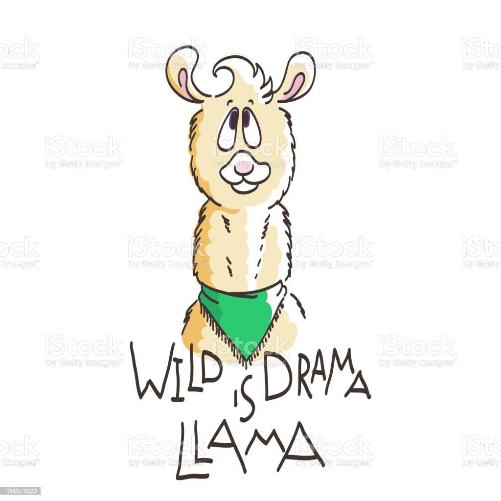 Llamas Quotes Inspirational: Cute Card With Cartoon Llama Motivational And