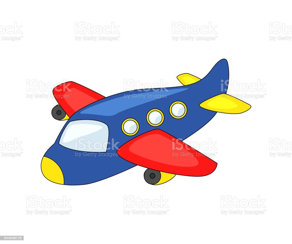 かわいい漫画の飛行機 おもちゃのベクターアート素材や画像を多数ご