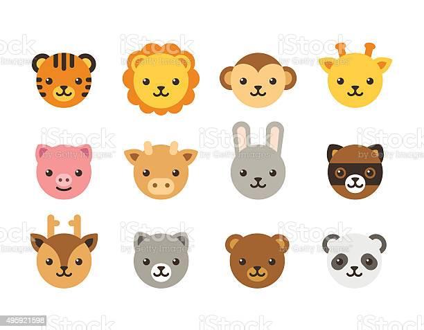 Cute cartoon animal faces vector id495921598?b=1&k=6&m=495921598&s=612x612&h=lzvpuw6wfyp7c3xuqptiqar6kotzocpltbkqh mkctq=