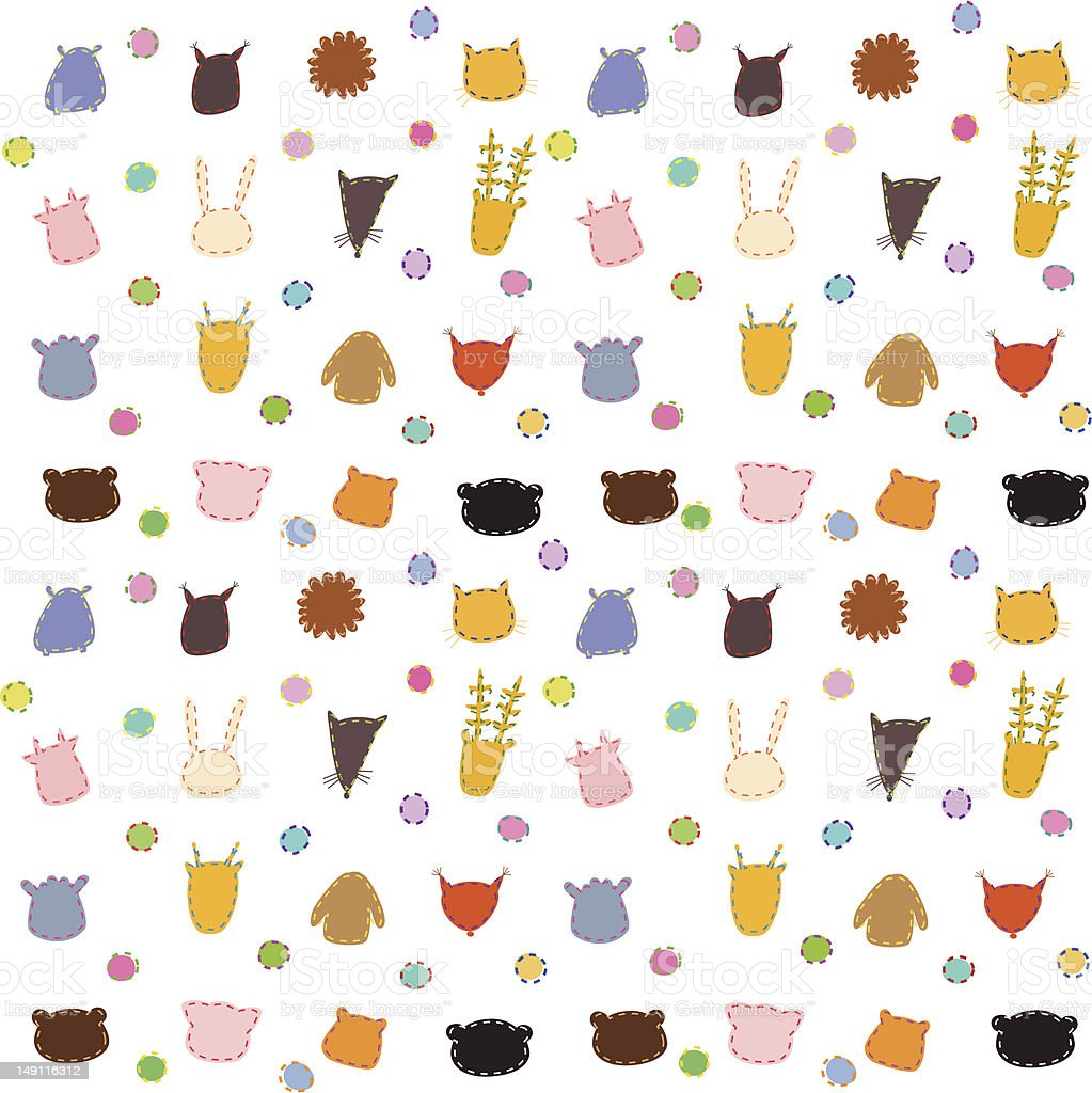Cute cartoon animals background stock vector art 149116312 istock cute cartoon animals background royalty free stock vector art voltagebd Gallery