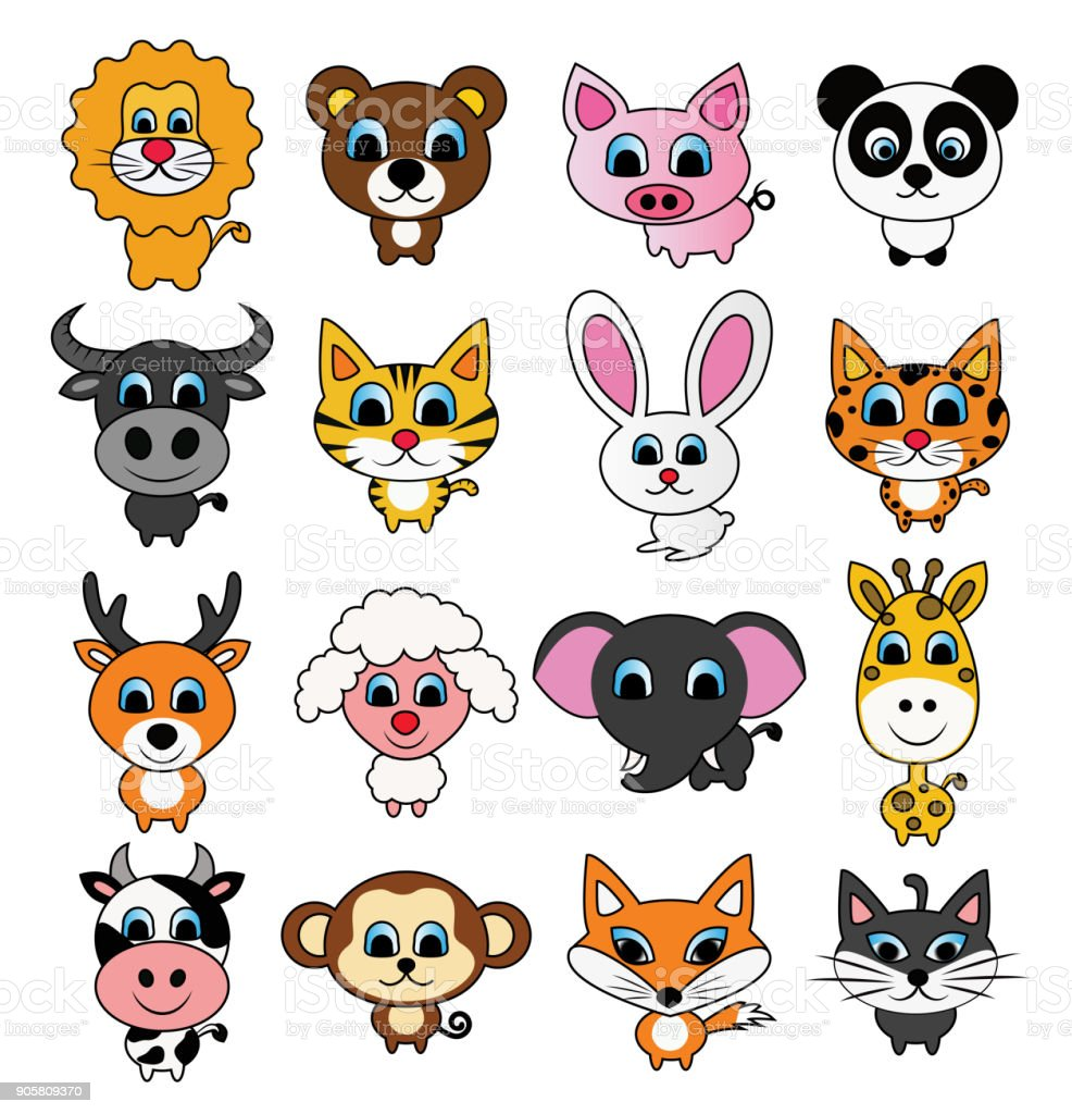 Cute Cartoon Animals Set Stock Illustration Download Image Now Istock