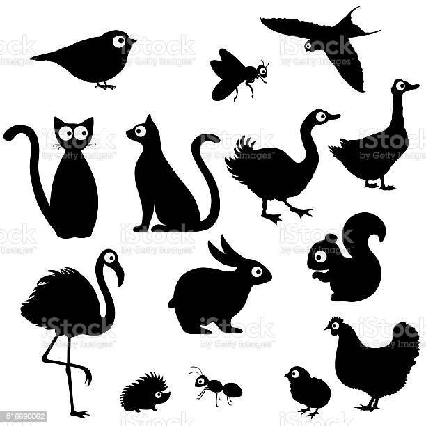 Cute cartoon animals silhouettes vector id516690062?b=1&k=6&m=516690062&s=612x612&h=zd 9bnzdw3e ecedsfismyfy8 4tiyk5tokh4dbkgs8=