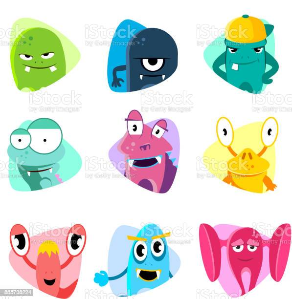 Cute cartoon avatars and icons monster faces vector set vector id855738224?b=1&k=6&m=855738224&s=612x612&h=zswfdfiegwgu m9sqslnm6eab4zukudazqvqocxmjss=