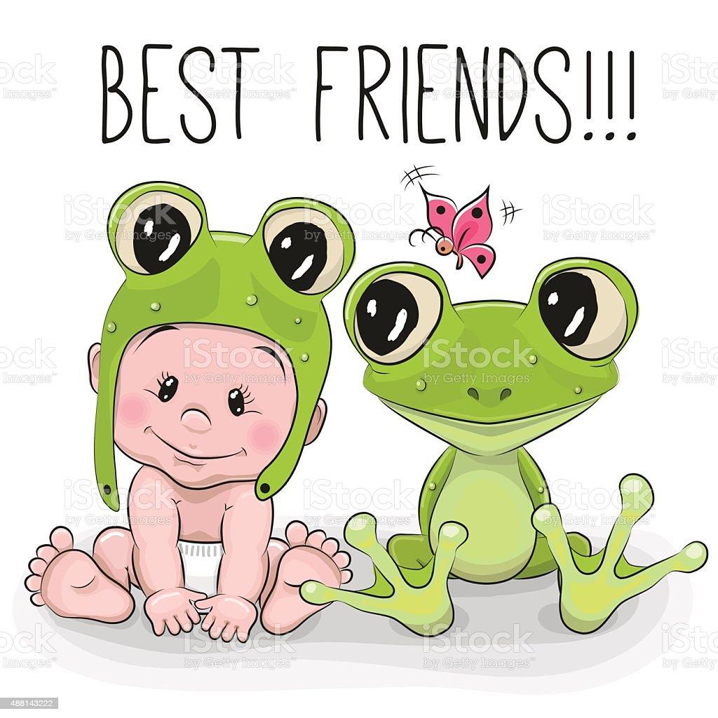 Uncategorized Frog Cartoon cute cartoon baby and frog stock vector art 488143222 istock royalty free art