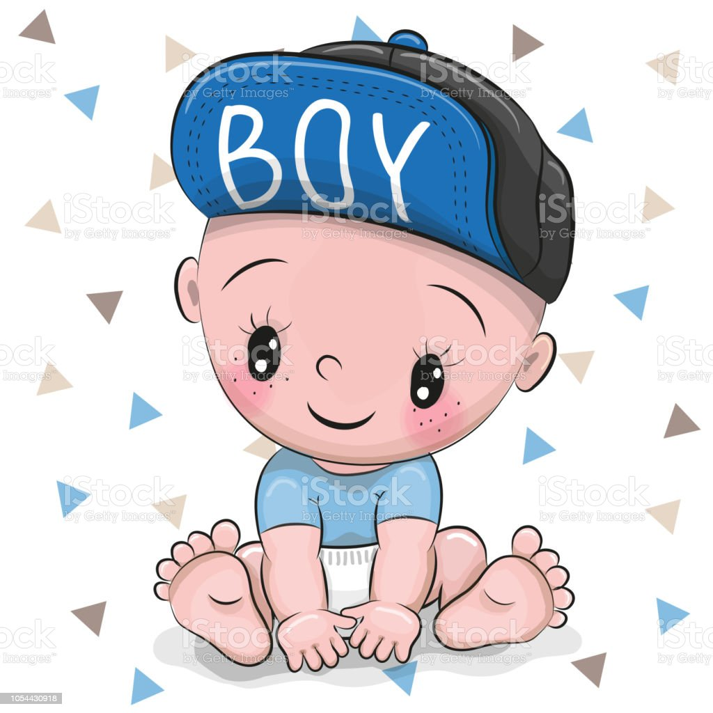 Cute Cartoon Baby Boy In A Cap Stock Illustration Download Image Now Istock
