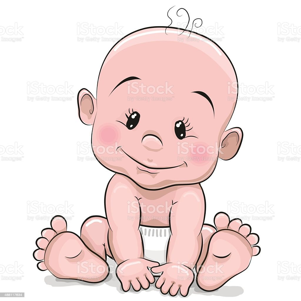 Cute Cartoon Baby Boy Stock Illustration - Download Image ...