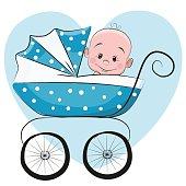 Cute cartoon baby girl stock vector art more images of 2015 cute cartoon baby boy voltagebd Image collections