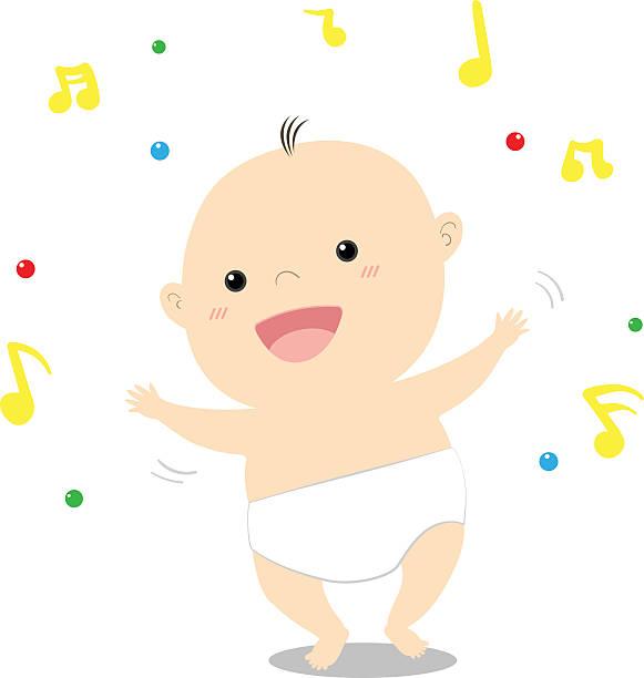 Dancing Babies Cute: Royalty Free Cute Little Baby Girl Dancing Happily Clip