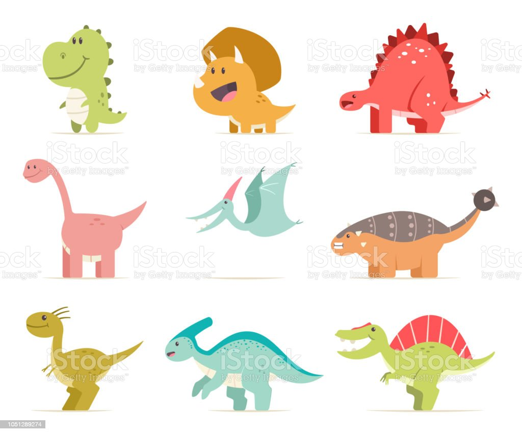 Image of: Baby Cute Cartoon Baby Dinosaur Set Vector Flat Prehistoric Animals Isolated On White Background Illustration Istock Cute Cartoon Baby Dinosaur Set Vector Flat Prehistoric Animals