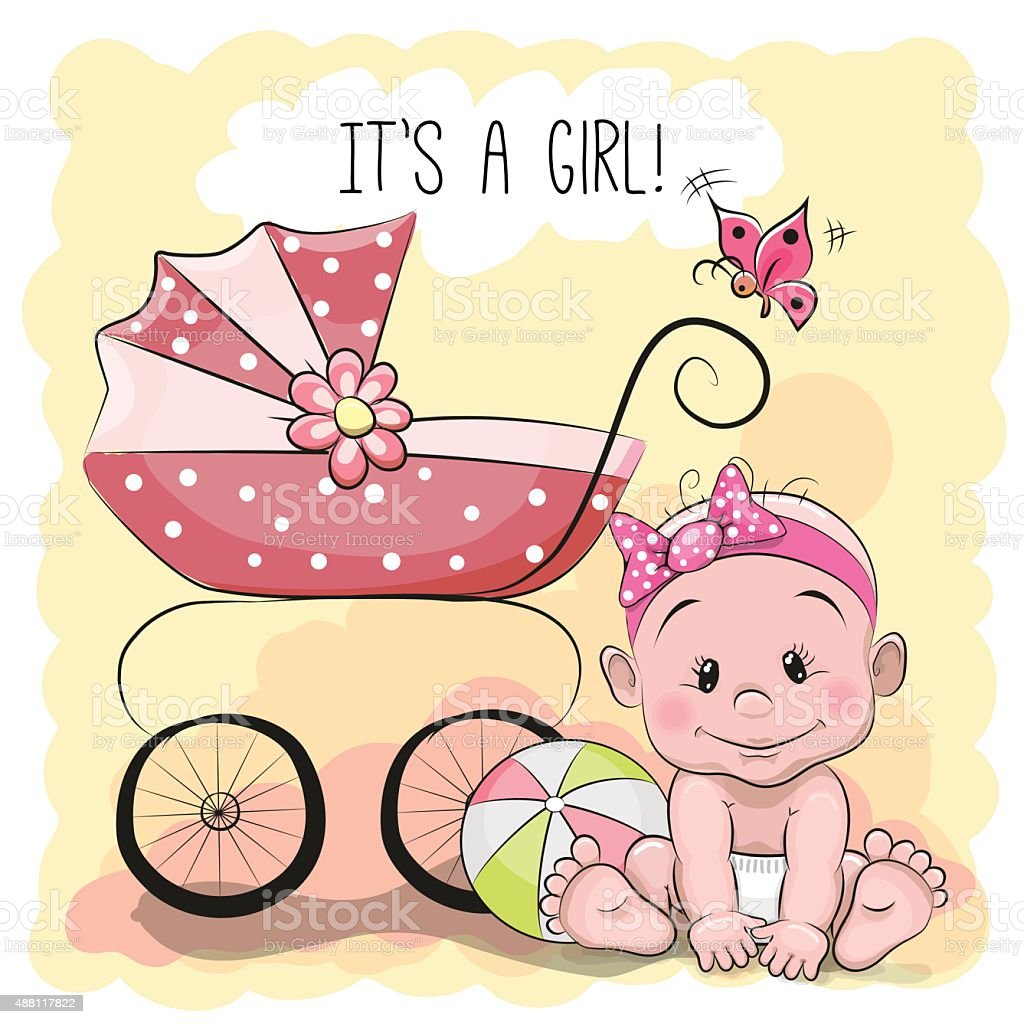 Cute cartoon baby girl stock vector art more images of 2015 cute cartoon baby girl royalty free cute cartoon baby girl stock vector art amp voltagebd Image collections
