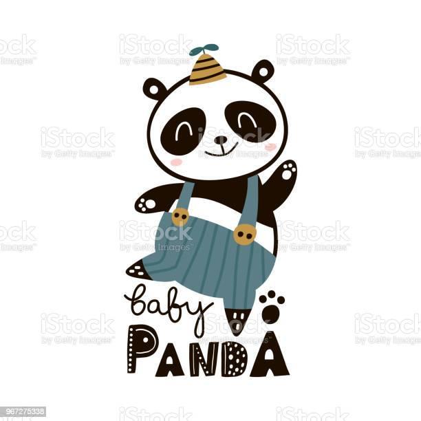 Cute cartoon baby panda childish print for nursery kids apparelposter vector id967275338?b=1&k=6&m=967275338&s=612x612&h=udjjnsfvy rpzfojosmjprnyu7ewz0jnnxyx9dnr6pa=
