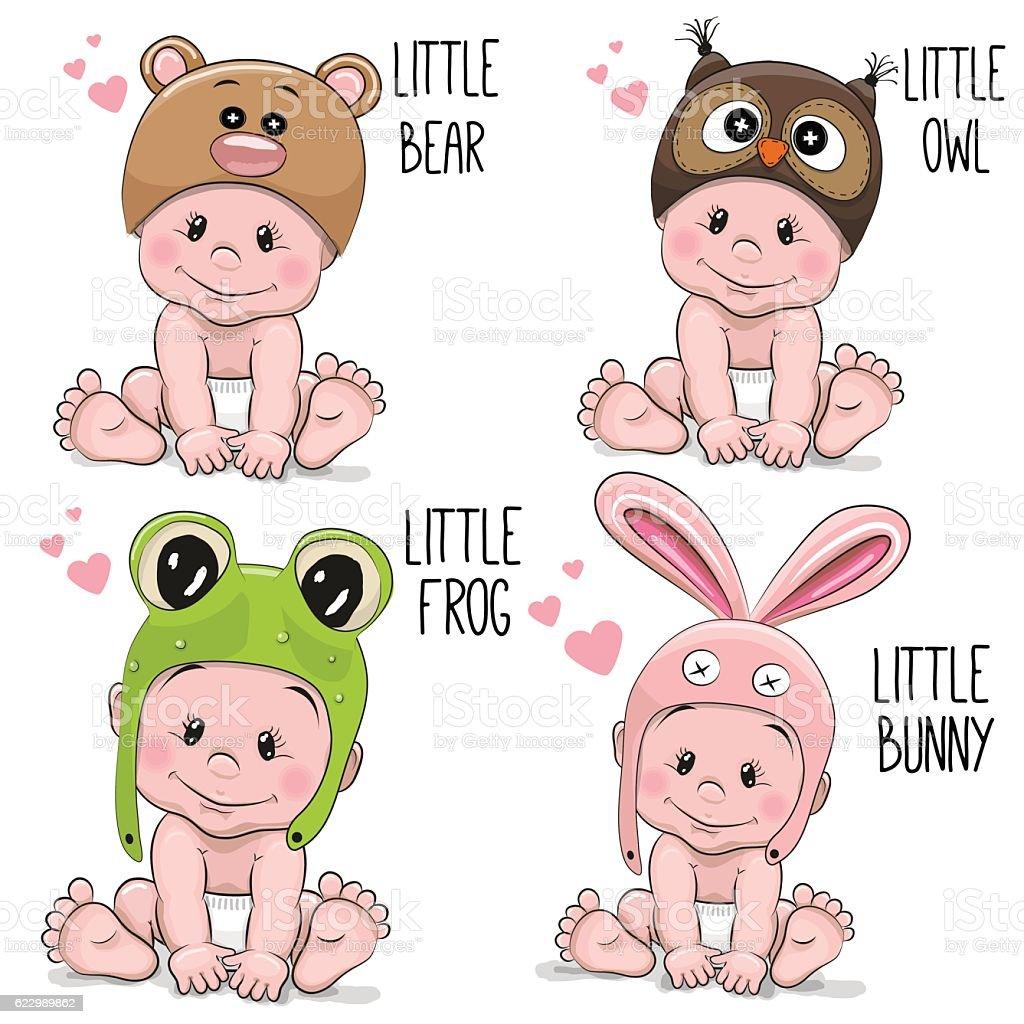 Cute Cartoon Baby – Vektorgrafik
