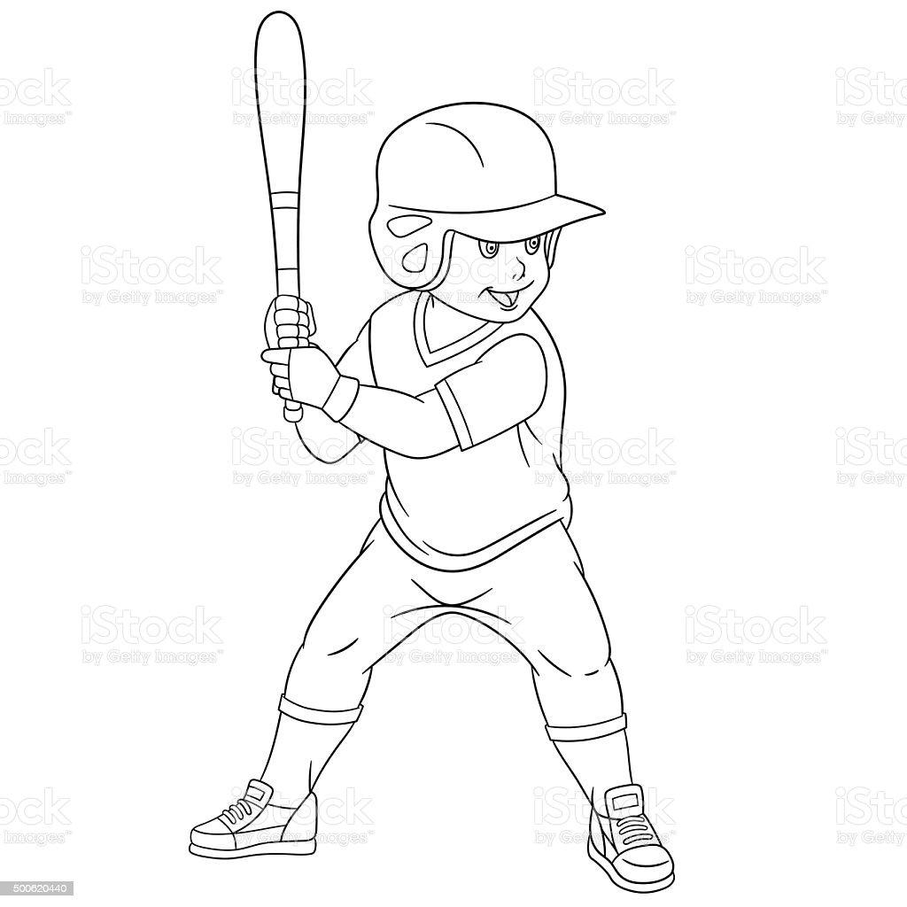 Ilustración de Osito De Peluche De Historieta Jugador De Béisbol y ...