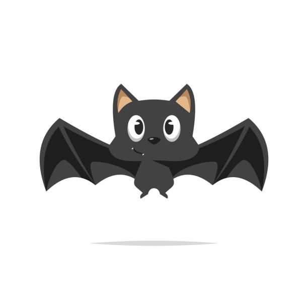Cute cartoon bat vector Vector element bat stock illustrations